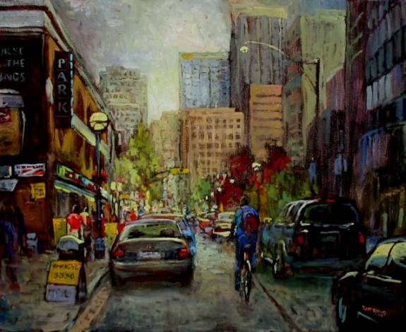 PARK Yorkville-Toronto - Oil Painting by Dermot McKeown
