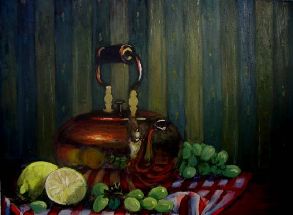 The Copper Kettle- Still Life- - Oil Painting by Dermot McKeown